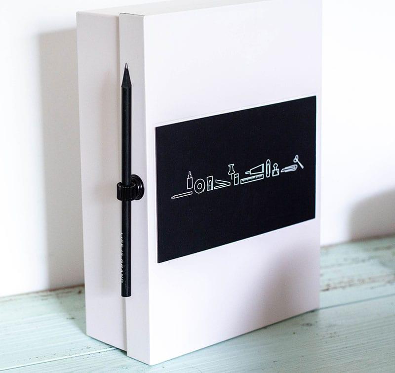 Stifthalter magnetisch schwarz Bleistift
